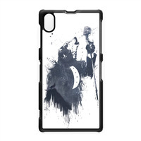 Wolf Song 3 Black Hard Plastic Case for Sony Xperia Z1 by Balazs Solti