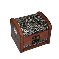 Dungricraft Wooden Bronze Antique Design Handmade Jewelry Box 4x3.4x3.1 Inches