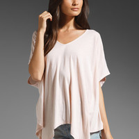 Daftbird Loose Angle V Neck Tee in Tea Rose from REVOLVEclothing.com