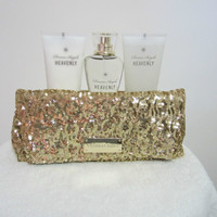 VICTORIA'S SECRET DREAM ANGELS  HEAVENLY BATH SET  SEQUIN GIFT BAG