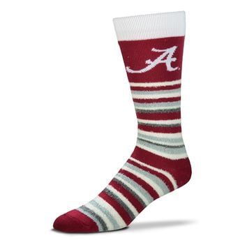 Men's University Of Alabama Crimson Tide Crimson/White FBF Muchas Rayas Socks