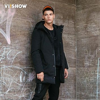 VIISHOW Winter Down Jacket Men New 90% White Duck Down Coat Hooded Top quality Brand Clothing Long Male Down Parkas YC2653174