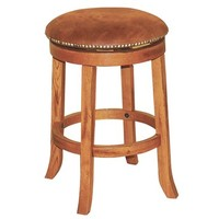 Sunny Designs Sedona Swivel Barstool with Back In Rustic Oak