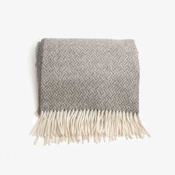 Herringbone Alpaca Lambswool Throw