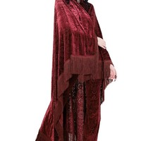 Nightfly Burnout Velvet Scarf [WINE]