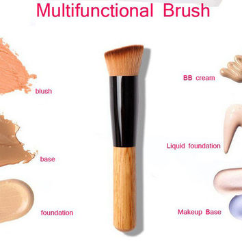 High Quality Powder Brush Wooden Handle Multi-Function