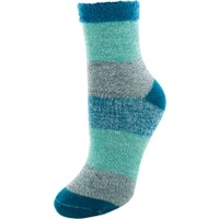 Yaktrax Women's Multi-Stripe Cabin Cozy Socks