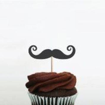 Little Mustache Sticks Style 03 by goldylocks on Etsy