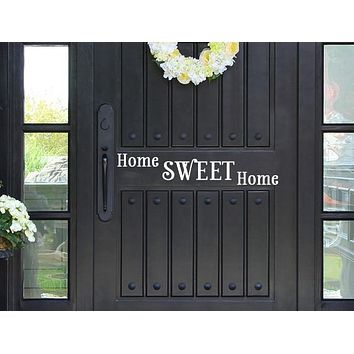 Home Sweet Home Vinyl Door Decal