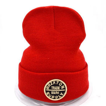 Perfect Brixton Women Men Embroidery Beanies Warm Knit Hat Cap