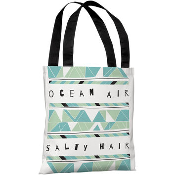 """Ocean Air Salty Hair"" 18""x18"" Tote Bag by Susan Claire"