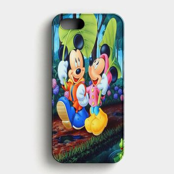 Romantic Mickey Mouse And Minnie Mouse Japanese iPhone SE Case