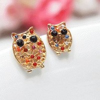 Owl Sisters Unsymmetrical Earrings ( 2 Pairs) | LilyFair Jewelry