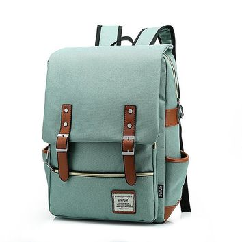 British Style Casual Unisex Waterproof Oxford School Backpack Rucksack