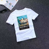 """""""Adidas"""" Unisex Sport Casual Fashion Letter Pattern Print Short Sleeve Couple T-shirt Top Tee"""