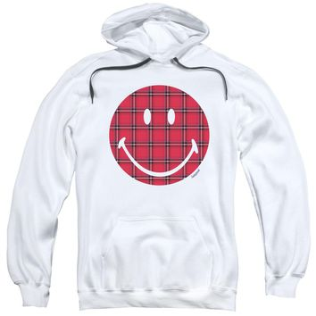 Smiley World - Plaid Face Adult Pull Over Hoodie
