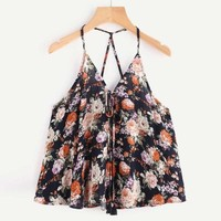 Summer Women Crop Top  Casual Sleeveless  Shirt Off Shoulder Chiffon Tank Top