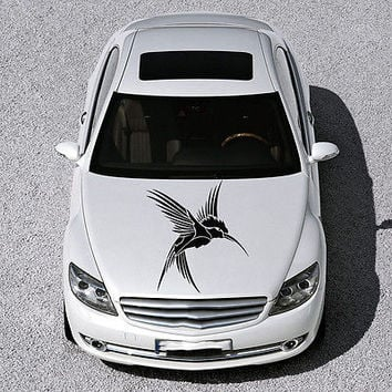 BEAUTIFUL BIRD FLIES ANIMAL ART DESIGN HOOD CAR VINYL STICKER DECALS SV1287