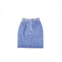 Vintage 1980s Denim Skirt Levis USA Blue XS