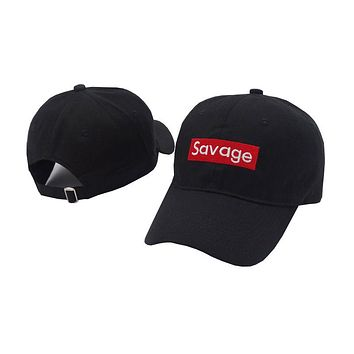 Savage - Cute, Graphic, Cool Baseball Cap With Patch Style Embroidery - Sports & Leisure Hat