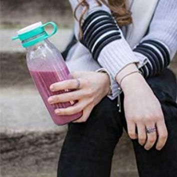 Ello Elsie BPA-Free Glass Water Bottle, 22 oz