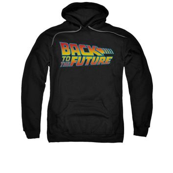 Back To The Future Movie Logo Licensed Adult Pullover Hoodie