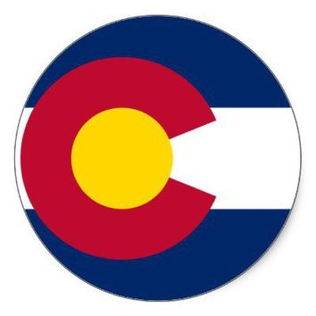 Colorado Flag Round Sticker from Zazzle.com