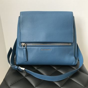 Givenchy Blue Small Pandora Pure Crossbody Bag