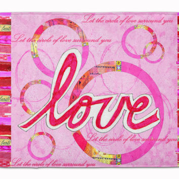Love is a Circle Valentine's Day Machine Washable Memory Foam Mat PJC1115RUG