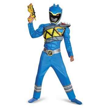 Power Rangers Blue Dino Charge Muscle Costume - Kids
