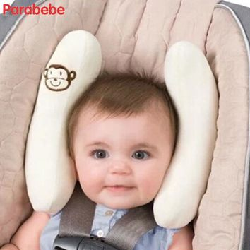 White Adjustable baby car seat head support children chair head protector for booster seat newborns baby stroller accessories