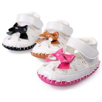 Baby Girls Crib Shoes Bow Knot PU Moccasins Princess Sapatos Shoes Baby Schoenen Toddler Boys Girls Soft Soled First Walkers