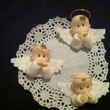 Baptism Cupcake Toppers, Baptism Centerpieces, Baptism, Baptism Favors For Girls, Baptism Angel Favors, Communion Centerpiece Decorations