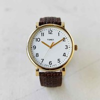 Timex Original Woven Leather Watch- Brown One