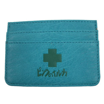 PD Card Holder in Aqua –Pink+Dolphin