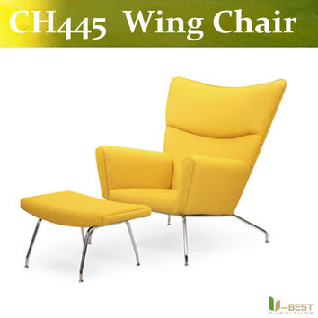 U-BEST Carl Hansen Hans Wegner Wing Chair CH445 Easy Chair, leisure sofa chair for living room