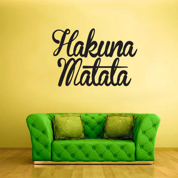 Wall Decal Vinyl Sticker Decals Hakuna Matata Lion King words sign Quote (z1460)