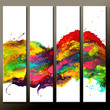 Abstract Canvas Art Painting Huge 4pc 48x48 Contemporary Original Wall Art Paintings by Destiny Womack -  dWo - River of Dreams