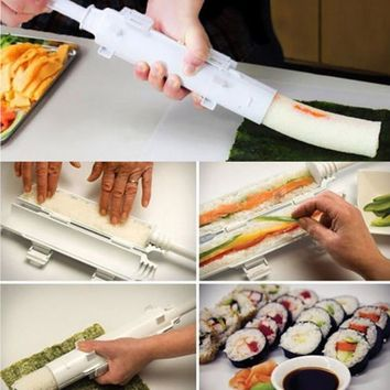 Sushi Roller Sushi maker Roll Mold Making Kit Sushi Bazooka Rice Meat Vegetables DIY Making Kitchen Tools Gadgets Accessories