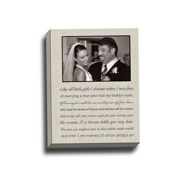 Father Of Bride Canvas Gallery Wrap Thank You