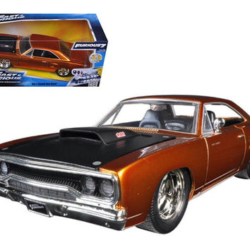 "Dom's 1970 Plymouth Road Runner Copper ""Fast & Furious 7"" Movie 1-24 Diecast Model Car by Jada"