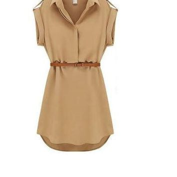 Womens Modern Summer work Casual Dress