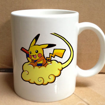 pikachu pokemon dragon ball design for mug, ceramic, awesome, good,amazing