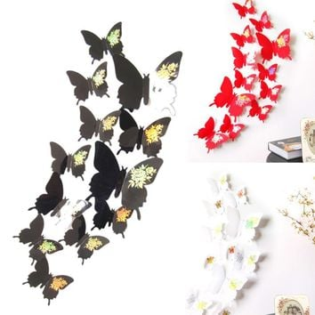 Fashion Heaven Wall Stickers Decal Butterflies 3D Wall Art Home Decors 3d wall paper jun 14