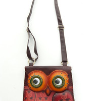 Unique Hand Made Leather Throwback NEW Owl Purse - Unique Vintage - Cocktail, Evening & Pinup Dresses