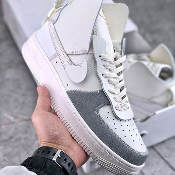 PSNY x Nike Air Force 1 High Pack Matte Silver/Light Bone-Sail-White - Best Deal Online