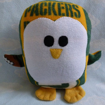 Plush Green Bay Packers Penguin Pillow Pal by AnitaKleinDesigns