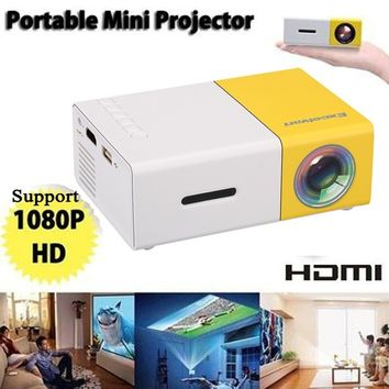 YG - 300 LCD LED Mini Projector Home Media and Movie Player Support 1080P