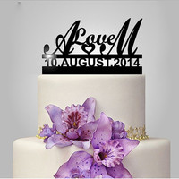 Personalized Acrylic Love Wedding Cake Topper
