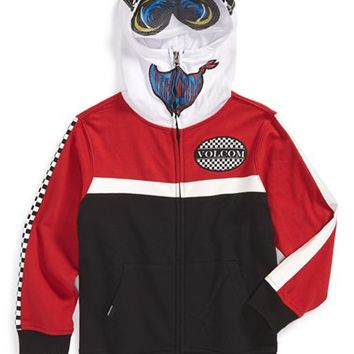 Toddler Boy's Volcom 'In the Race' Mask Hoodie,
